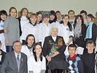 Встреча с ветераном Великой отечественной войны - Глуховой Ниной Гавриловной