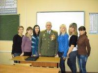 Встреча с полковником танковых войск Ковдырь В. Н.