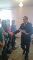 """вручение грамот нашим студентам в администрации МО """"Карсунский район"""""""
