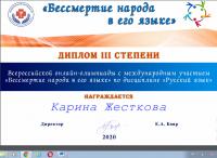 олимпиада по русскому языку